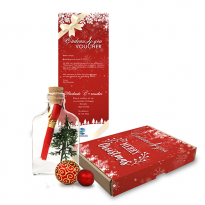 Message Bottle Giftbox - Thema Kerst